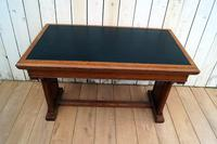 Leather Top Library Table (2 of 9)