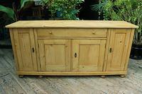 Big! Old 2m Pine Dresser Base / Sideboard / Cupboard / TV Stand - We Deliver! (2 of 13)