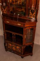 Rosewood Corner Display Cabinet by Gillows (13 of 14)