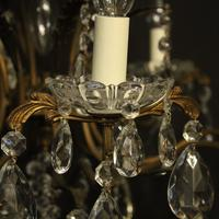 French Gilded 9 Light Birdcage Antique Chandelier (3 of 10)