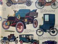 Intriguing Very Large 1960s Oak Framed Vintage Car Automotive Lithograph Poster (11 of 13)