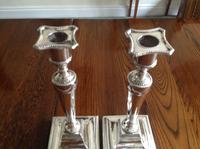 Pair of Antique Georgian Silver Candlesticks - 1780 (2 of 6)