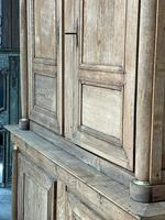 Wonderful French Empire Period Bleached Oak Linen Press (14 of 32)