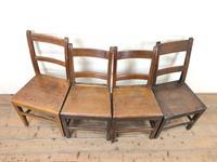 Four Similar 19th Century Welsh Oak Bar Back Farmhouse Chairs (2 of 9)