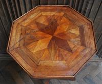 French Mixed Wood Octagonal Tripod Table (3 of 4)