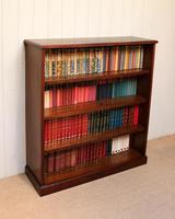 Edwardian Mahogany Open Bookcase c.1910 (3 of 11)