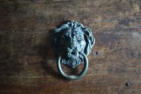 Large Antique Mid 19th Century Bronze Lion Mask Door Knocker (2 of 10)