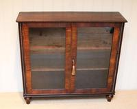 Victorian Rosewood Glazed Bookcase (7 of 10)