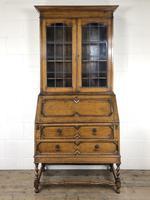 Early 20th Century Antique Oak Bureau Bookcase (15 of 17)
