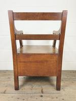 19th Century Oak Armchair Commode (10 of 10)