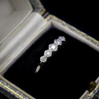 Antique Art Deco Diamond Five Stone 18ct 18k Yellow Gold and Platinum Ring (2 of 10)