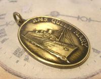 Vintage Pocket Watch Chain Fob 1950s Rms Queen Mary Ships Brass Propeller Fob (3 of 8)