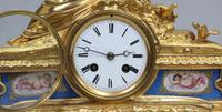 French Napoleon III Bronze Gilt & Porcelain Mantel Clock by Vincenti (9 of 9)