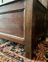 Late 18th Century Box Seated Oak Settle (8 of 19)