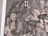 Original Second State Hogarth Print, A Rake's Progress Plate 6, 1735 (4 of 9)