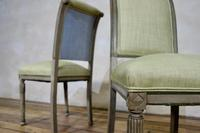 Pair of French Painted Louis XVI Style Side Chairs (4 of 12)