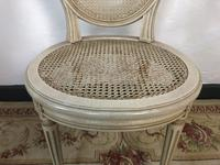 Vintage French Set of 6 Bergère Cane Dining Chairs Medallion Louis Style (9 of 11)