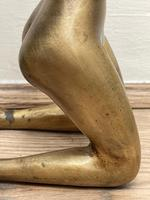 """Art Deco French Cold Painted Gilt Bronze Posing """"Mystery Nude Lady"""" c.1930 (22 of 41)"""
