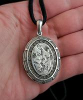 Antique Victorian Silver Locket, Aesthetic era (7 of 9)