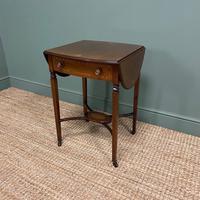 Small Edwardian Inlaid Mahogany Antique Sofa Table (6 of 9)