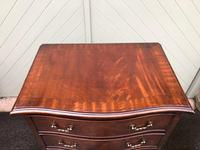 Antique Slim Mahogany Serpentine Chest of Drawers (7 of 8)