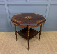 Inlaid Rosewood Table by James Shoolbred (3 of 11)