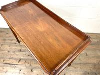 Victorian Two Drawer Mahogany Side Table (12 of 13)