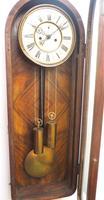 Fantastic Antique Walnut Arch Glazed 8-day Twin Weight Striking Vienna Regulator Wall Clock (11 of 12)