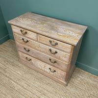 Superb Quality Limed Oak Antique Chest of Drawers (8 of 8)
