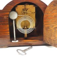 Good Art Deco Oak Mantel Clock – Striking 8-day Arched Top Mantle Clock (8 of 9)