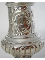 Large Victorian Silver Sugar Caster in a Baluster Shape and Pull Off Lid (3 of 6)