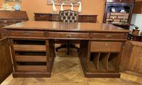 Important French Pedestal Desk from 19th Century in Oak (3 of 13)