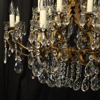 Italian Gilt & Crystal 21 Light Antique Chandelier (4 of 10)