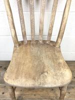Pair of Antique Slat Back Farmhouse Kitchen Chairs (7 of 9)