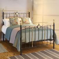 Decorative Dark Grey Antique Bed