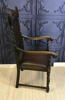 Set of Six Oak Dining Chairs (11 of 11)