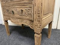 French Bleached Oak Chest of Drawers (8 of 12)