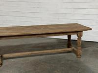 Nice Large Bleached Oak Farmhouse Dining Table With Extensions (20 of 35)