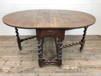 Antique 18th Century Welsh Oak Gateleg Table, Folding Table, Dining Table or Kitchen Table (2 of 12)