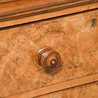 Victorian Burr Walnut Chest of Drawers c.1860 (2 of 8)