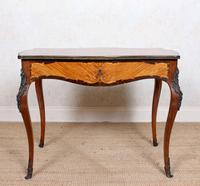 Serpentine Writing Table Louis XVI Style Inlaid Kingwood (2 of 19)