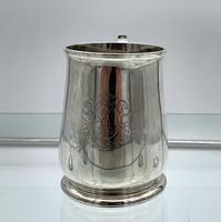 Antique George II Sterling Silver Pint Mug London 1728 Edward Vincent (5 of 7)