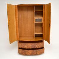 1930's Art Deco Figured Walnut Wardrobe (4 of 12)