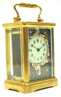 Superb French 8 Day Champleve Carriage Clock Cylinder Platform, Working c.1900 (2 of 12)