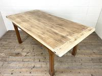Antique Oak Scrub Top Kitchen Table (3 of 11)