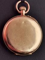 Antique 9ct Gold Half Hunter Pocket Watch, Blue Enamel (14 of 14)