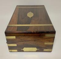 Superb Antique Victorian Rosewood Brass Bound Writing Slope Box (14 of 15)