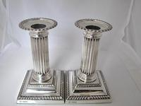 Handsome Pair of George V Silver Candlesticks Hawksworth Eyre & Co Sheffield 1915 (2 of 12)