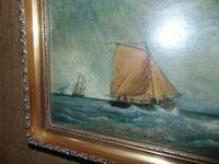 Oil on Canvas 'Storm off Whitby' by Fielding (3 of 6)