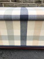 Mahogany Upholstered Sarcophagus Blanket Box (2 of 8)